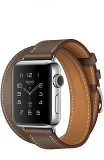 Apple Watch Hermès Series 2 38mm Stainless Steel Case с кожаным ремешком Double Tour цвета Étoupe Apple