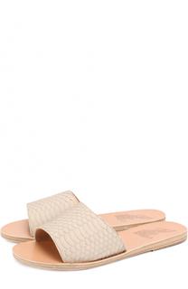 Кожаные шлепанцы Taygete с тиснением Ancient Greek Sandals