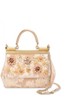 Сумка Sicily small с отделкой кристаллами Limited edition Dolce & Gabbana