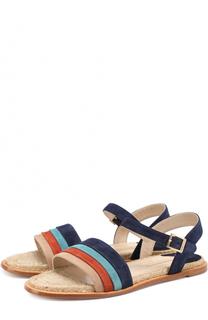 Замшевые сандалии с цветными вставками Paloma Barcelo