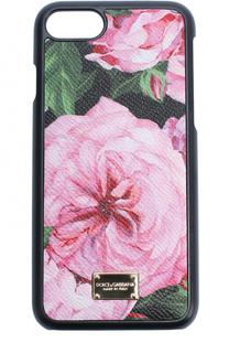 Кожаный чехол для iPhone 7 с принтом Dolce & Gabbana