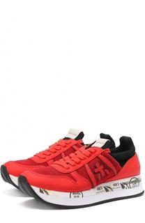 Комбинированные кроссовки Liz с принтом на подошве Premiata