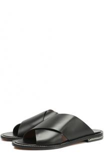 Кожаные сабо с декоративной цепочкой Givenchy
