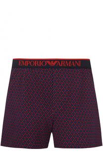 Хлопковые боксеры свободного кроя с широкой резинкой Emporio Armani