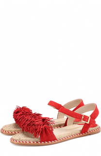 Замшевые сандалии с бахромой Paloma Barcelo