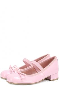Лаковые туфли с декором Pretty Ballerinas