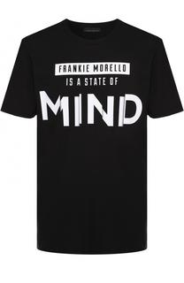 Хлопковая футболка с контрастным принтом Frankie Morello