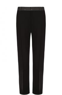 Шерстяные брюки прямого кроя с контрастной отделкой пояса Alexander McQueen