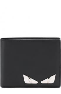 Кожаное портмоне с отделениями для кредитных карт и монет Fendi