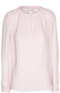 Шелковая блуза с плиссированной планкой Diane Von Furstenberg