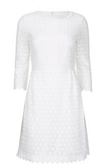 Кружевное приталенное мини-платье с укороченным рукавом Diane Von Furstenberg