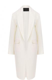 Пальто прямого кроя с широкими лацканами Alexander Wang