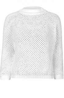 Хлопковый пуловер крупной вязки с укороченным рукавом Dsquared2