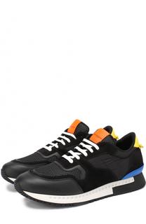 Комбинированные кроссовки с контрастными вставками Givenchy