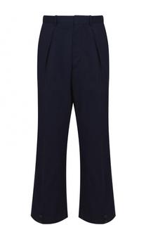 Хлопковые укороченные брюки свободного кроя Marni