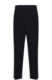 Шерстяные укороченные брюки свободного кроя Marni