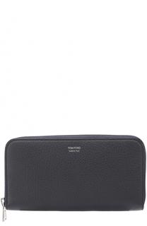 Кожаное портмоне на молнии с отделениями для кредитных карт и монет Tom Ford