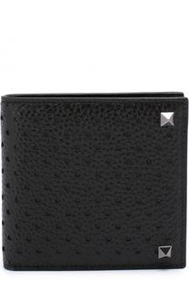 Кожаное портмоне с отделениями для кредитных карт и монет Valentino