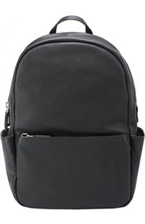 Кожаный рюкзак с внешним карманом на молнии Calvin Klein Collection