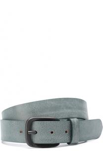 Кожаный ремень с металлической пряжкой Baldessarini