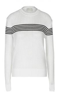 Вязаный пуловер с контрастной отделкой Hillier Bartley