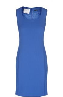 Шерстяное приталенное платье с глубоким круглым вырезом Kiton