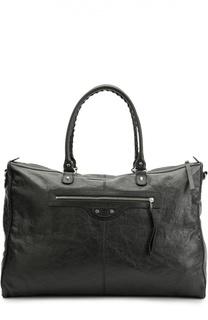 Кожаная дорожная сумка Classic Weekender с плечевым ремнем Balenciaga