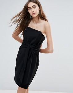 Облегающее платье с завязкой спереди Adelyn Rae - Черный