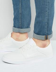Белые парусиновые кроссовки Nike SB Portmore 723874-111 - Белый