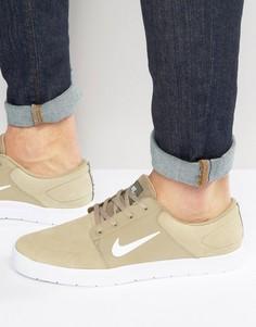 Бежевые кроссовки Nike SB Portmore Vapor 855973-213 - Бежевый