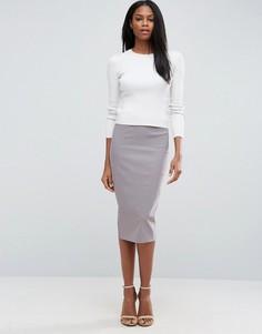 Длинная юбка-карандаш ASOS - Серый