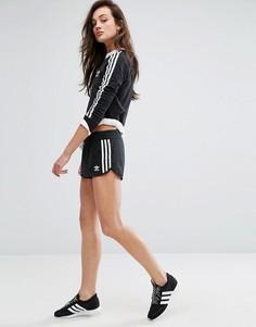 Черные шорты с тремя полосками adidas Originals - Черный