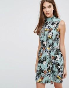 Платье с высоким воротом Madam Rage - Зеленый