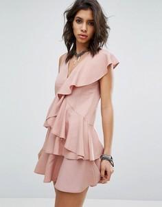 Платье с оборками Religion - Розовый
