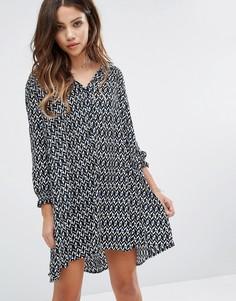 Платье мини с принтом BA&SH - Черный Ba&Sh