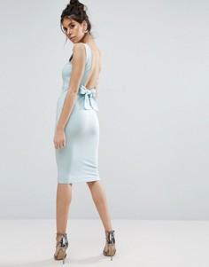 Облегающее платье-футляр миди ASOS - Синий
