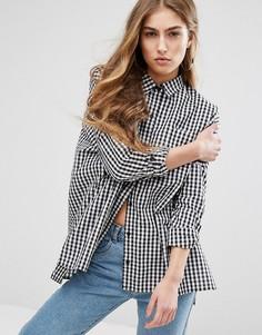 Oversize-рубашка в клеточку Daisy Street - Черный