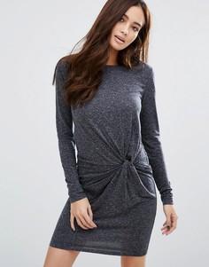 Платье с узлом спереди JDY - Серый