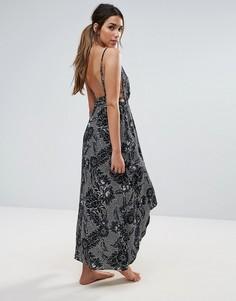 Пляжное платье макси с лямками на спине Somedays Lovin - Мульти