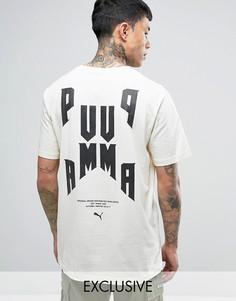 Свободная футболка с графическим принтом Puma 57534301 эксклюзивно для ASOS - Белый