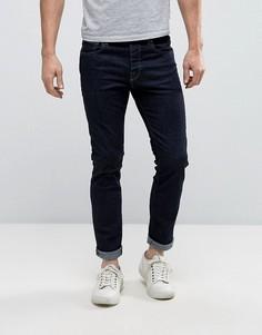 Синие эластичные джинсы слим Selected Homme - Синий