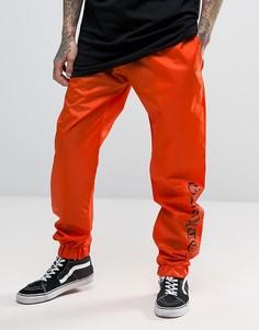 Оранжевые джоггеры с манжетами и надписью Granted - Оранжевый