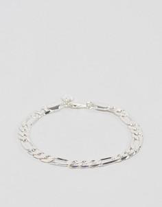 Серебристый браслет-цепочка Chained & Able - Серебряный