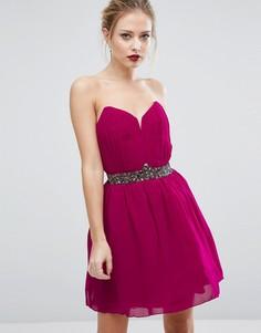 Платье для выпускного с декоративной отделкой Little Mistress - Розовый