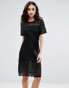 Платье с цветочным кружевом Liquorish - Черный