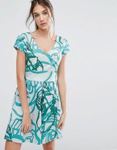 Платье со складками и V-образным вырезом Closet - Мульти
