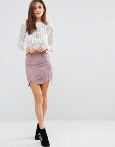Ажурная юбка Glamorous - Фиолетовый