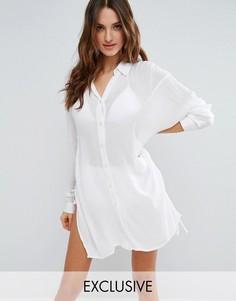 Белая пляжная рубашка Akasa - Мульти