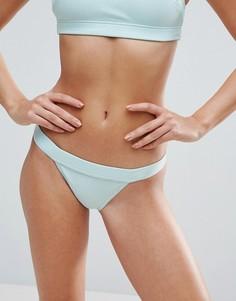 Бразильские трусики бикини в рубчик с завышенной талией ASOS - Выбирай и комбинируй - Зеленый