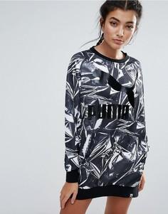 Платье с принтом Puma Q4 - Черный